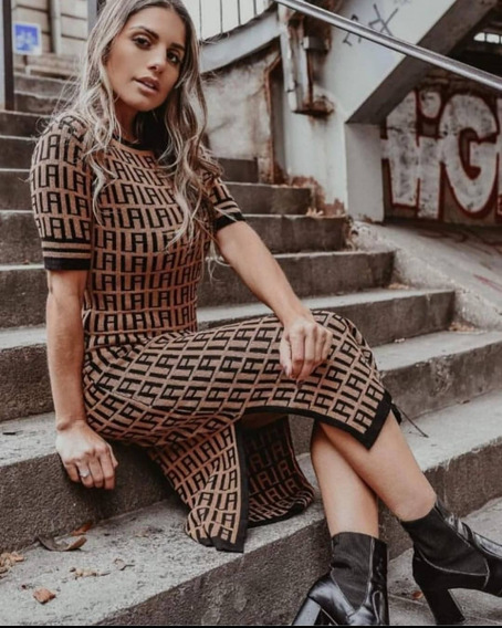 Vestido Fendi Tricot . Vestido De Luxo Coleção Exclusiva