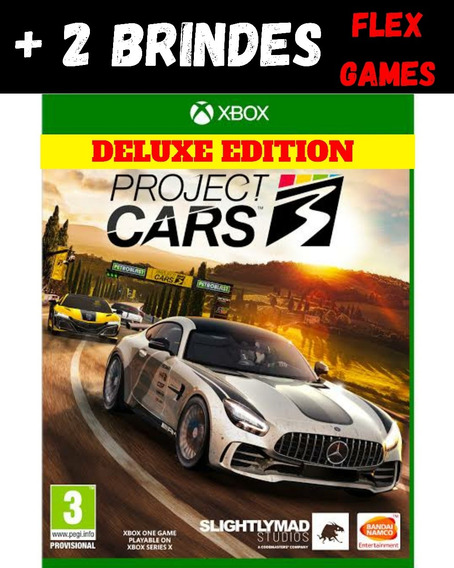 Project Cars 3 Deluxe Edition Xbox One + 2 Brindes
