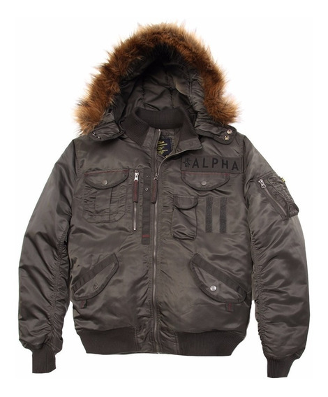 Campera Alpha Industries Deflector Original Negro Y Verde