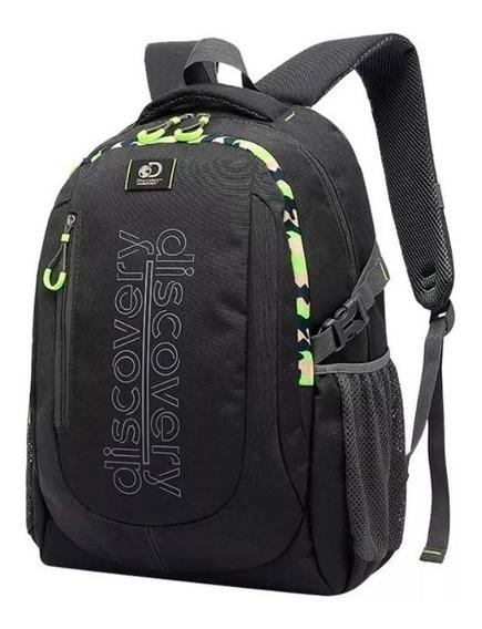 Mochila Discovery 20205 Porta Notebook Gris Oscuro