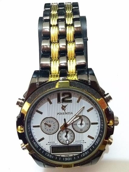 Relógio Masculino Dual De Metal Grande M21