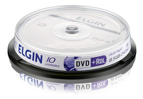 Dvd+r Gravável 8,5 Gb 240 Min Dual Layer 8x Elgin - 10 Un