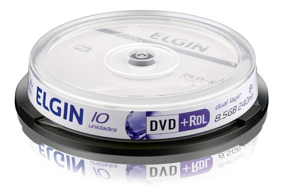 Dvd+r Gravável 8,5 Gb 240 Min Dual Layer 8x Elgin - 10 Un