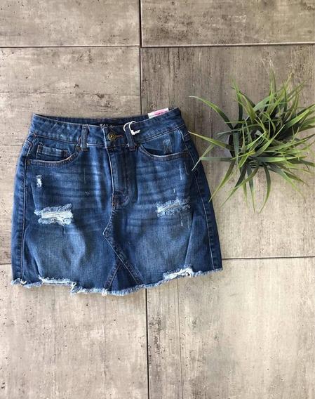 Falda Mezclilla Deslavada Wax Jean, Style #90132