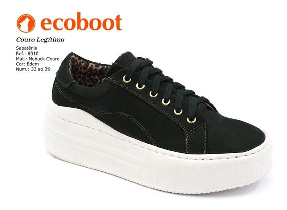 Tenis Plataforma Feminino De Couro Ecoboot