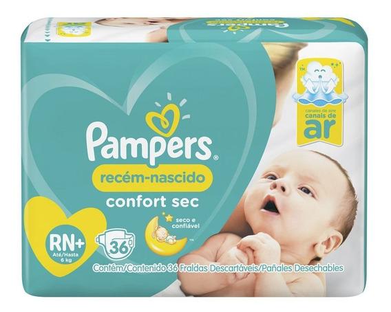 Fraldas Pampers Recém-nascido Confort Sec Rn 36 Unidades