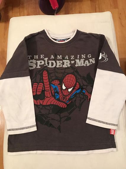 Remera Spiderman Marvel Original T4 Como Nueva!