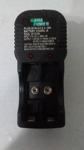 Carregador De Bateria 9v E Pilhas Aa
