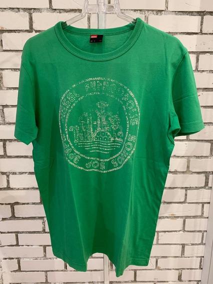 Camiseta Diesel Masculino Verde