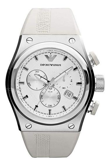 Relógio Emporio Armani Ar6103 Stylesport White Rubber