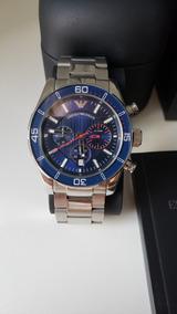 Relógio Empório Armani Ar5933 Azul Original Com Caixa E Tudo