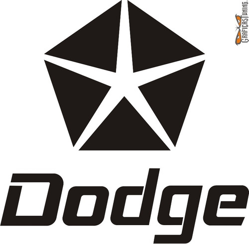 Calcomanía Dodge 01 - 30 X 30 Cm Graficastuning