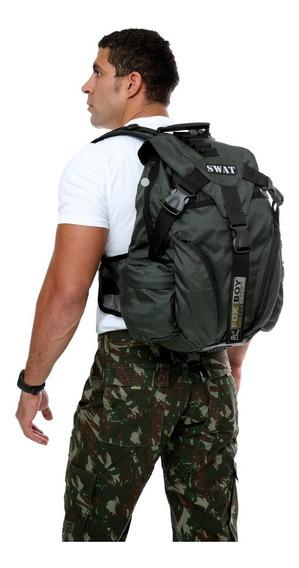 Mochila Tatica Swat Fox Boy Fb079 Rip Stop Militar E Camping