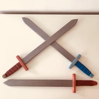 Espada 60 Cm Medieval Madera Caballero Rey Juguete Infantil