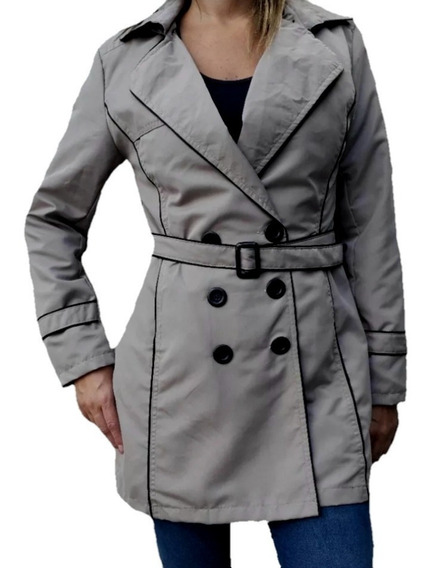 Piloto Trench Mujer Impermeable Capucha