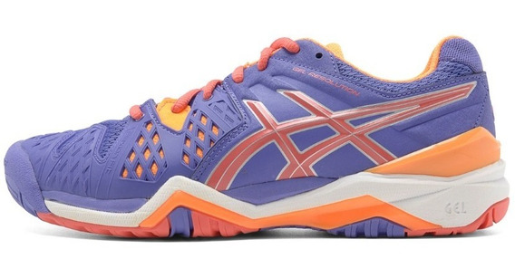 Tênis Asics Gel Resolution 6 W - Roxo/laranjatênis Asics Gel