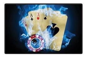 Placa Decorativa Sala Jogos Bar Churrasco Poker Stars 5040