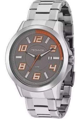 Relógio Masculino Technos Prateado 2115kne/1l - Com Nf