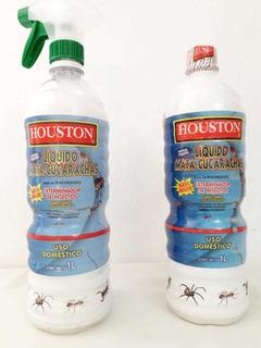 2 Lts Houston Insecticida Vs Cucarachas Gratis Atomizadores