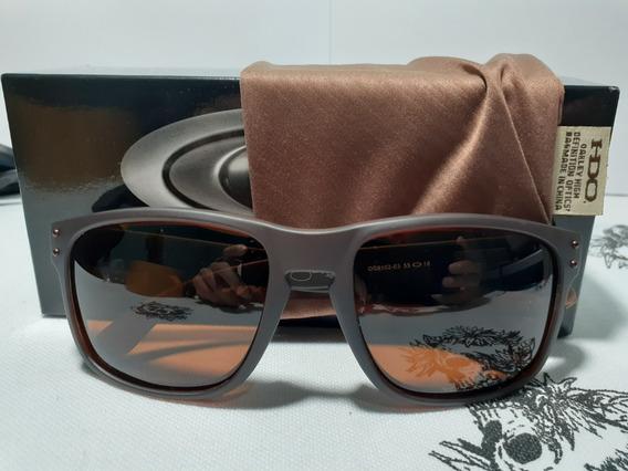 Óculos De Sol Oakley Holbrook Marrom Polarizados Poucas Unidades(fotos E Video Reais)