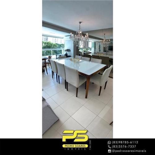 Apartamento Com 3 Dormitórios À Venda, 125 M² Por R$ 870.000 - Altiplano Cabo Branco - João Pessoa/pb - Ap4444