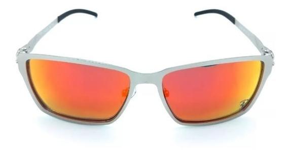 Oculos De Sol Tincan Cinza Vermelho Polarizado Metal Oferta