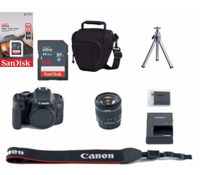 Câmera Canon Rebel T7i 18-55mm Is Stm 64gb+bolsa+tripé C/nf