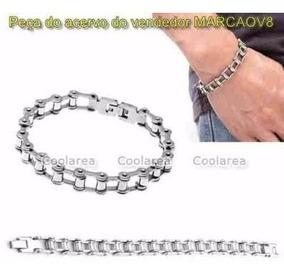 Pulseira Bracelete De Inox Feita De Elos De Corrente De Moto