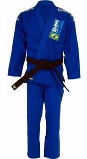 Kimono Jiu Jitsu Shinai Azul Trançado A2