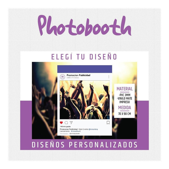 Marco Cuadro Foto Selfie Photo Booth 70 X 90 Redes Sociales