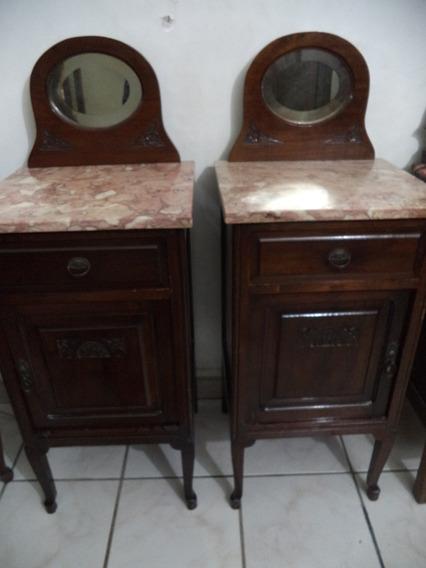 Par Criados Mudos Marmore Espelho Anos 40 Antigos A Retirar