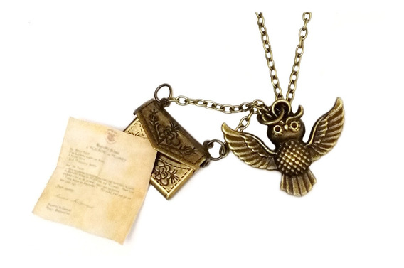 Collar Harry Potter Buho Mensajero Lechuza Hedwig