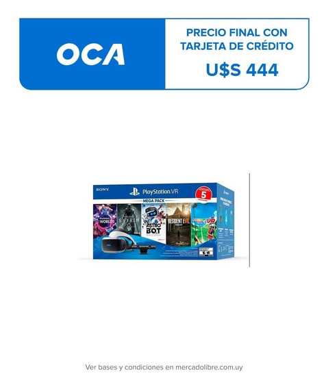 Playstation Vr Mega 5 + Cámara + 5 Juegos Nuevo