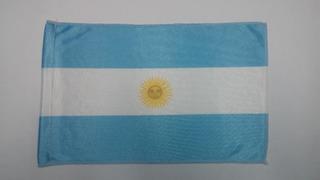 50 Banderas Argentina Banderita Tela Acetato Con Costura
