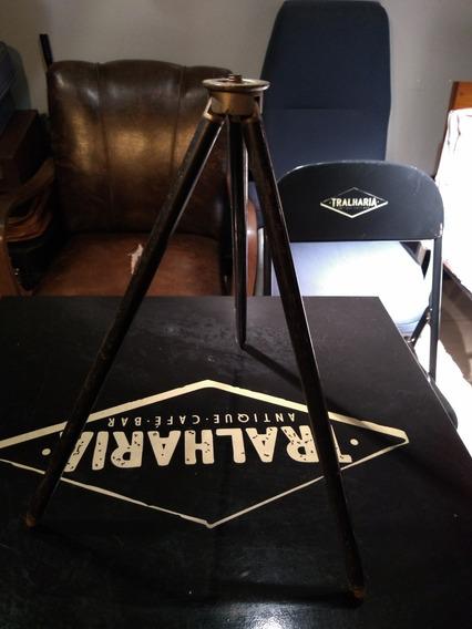 Antigo Tripé Telescópico Para Câmeras Fotográficas