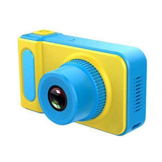 Camera Digital Infantil Portatil Amarela Azul Filmadora Foto