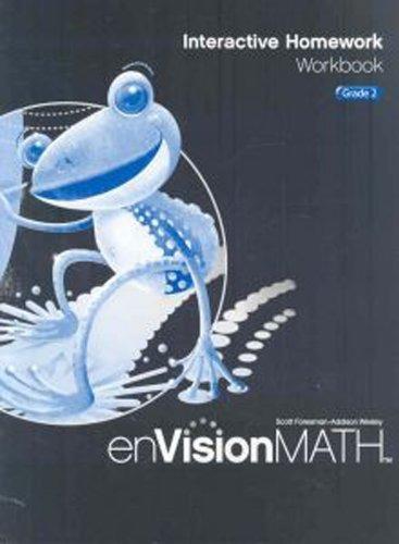 Libro Envision Math, Interactive Homework: Grade 2 - Nuevo