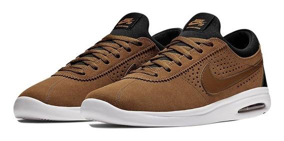 Zapatillas Nike Sb Air Max Bruin Cuero Marron Hombre Mujer