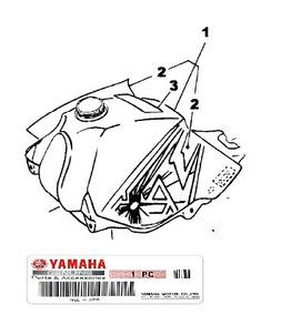 Tanque Combustivel Xt225 Vermelha 1999 Original Sem Uso