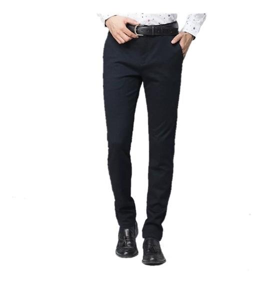 Pantalon Semi Chupin Hombre Pantalon Vestir Slim - Envíos