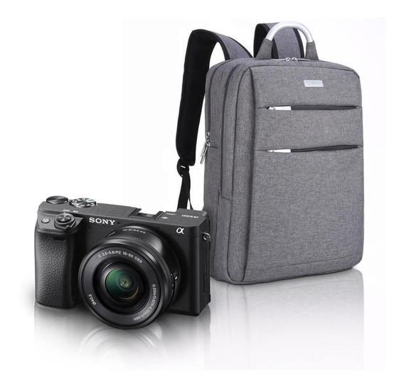 Kit Sony A6400 Mirrorless Com Lente 16-50mm + Mochila Profis