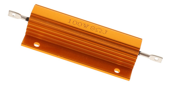 Chassis De Alumínio Do Resistor De 100 W Watt 8 Ohm Montado