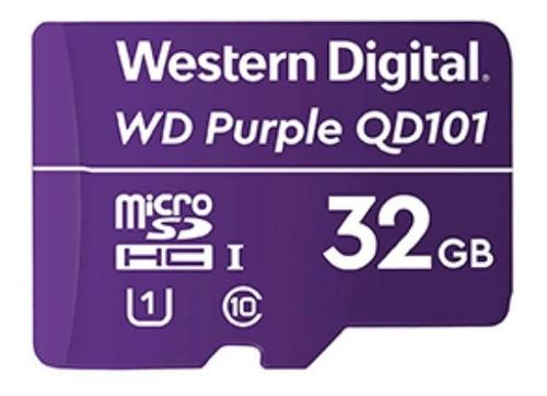 Cartao De Memoria Sd Wd Purple Class 10uhs-i 32gb