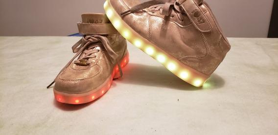 Liquido Zapatillas Botitas 47 Street Con Luces Led Num 35