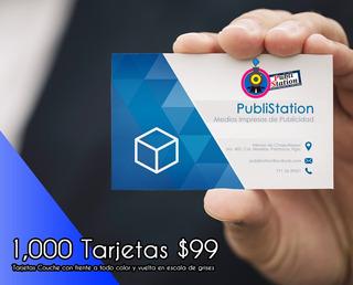 1000 Tarjetas De Presentación Couche A Todo Color!!!