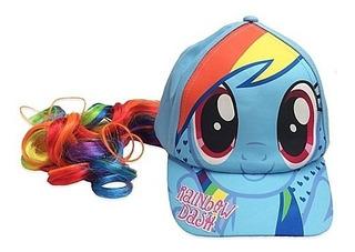 My Little Pony-rainbow Dash-gorra Cola De Caballo-importado