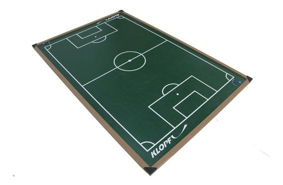 Campo De Futebol De Botão Com Borda Em Madeira