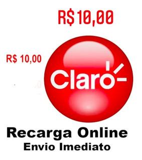 Recarga Celular On-line Claro R$ 10,00