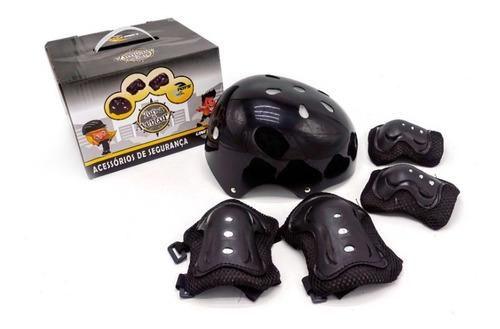 Kit Proteção Infantil Patins Skate Bicicleta Roller Preto