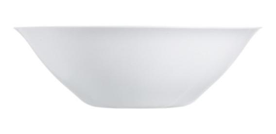 Ensaladera Bowl Luminarc Carine Vidrio Templado Blanco 27 Cm